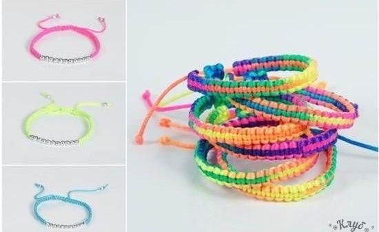 Цветные браслеты своими руками 741